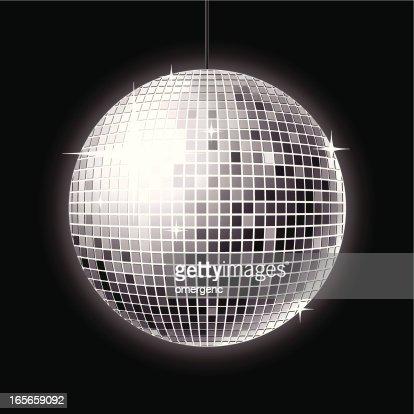 Globo espelhado arte vetorial getty images - Fabriquer une boule a facette ...