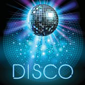 Shiny disco ball. Party background. Vector illustration