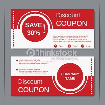 Discount Coupon Design Template Vector Art – Discount Coupon Template