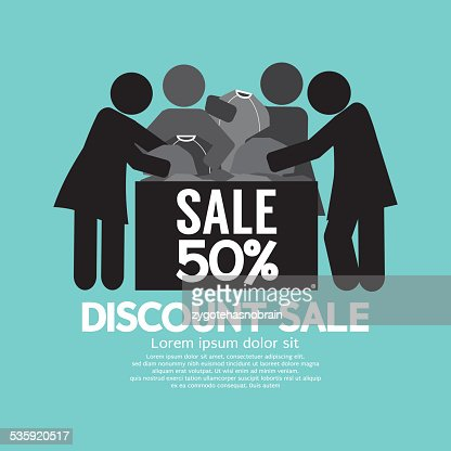 Discount Sale 50% Off Symbol : Vector Art