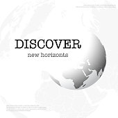 Gray background with abstract Earth globe and sample text