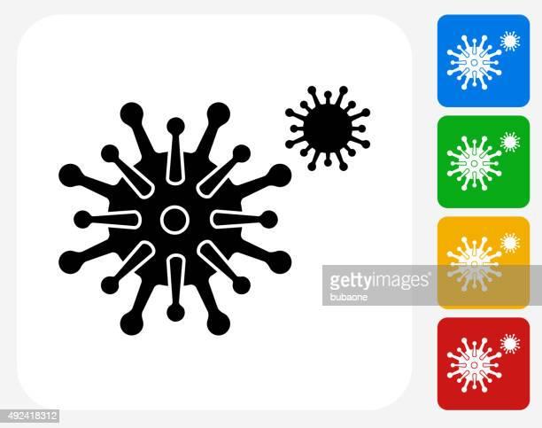 Disease Icon Flat Graphic Design