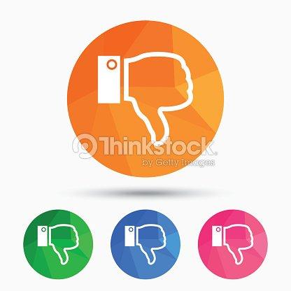 Dislike Sign Icon Hand Finger Down Symbol Vector Art Thinkstock