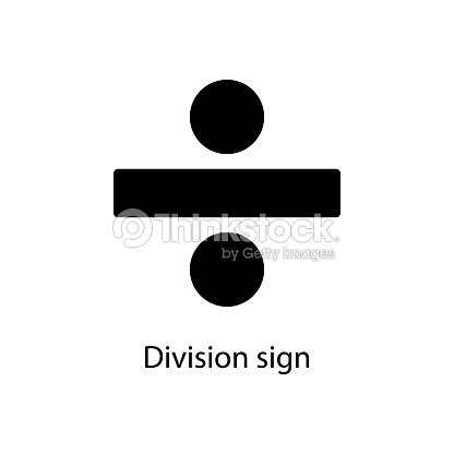 Division Sign Icon Element Of Minimalistic Icon For Mobile Concept