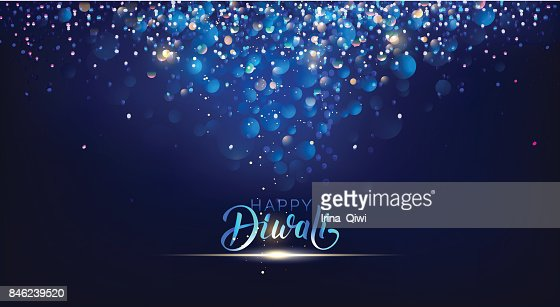 Diwali festival lights poster. : stock vector