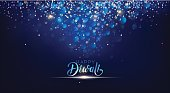 Diwali festival lights poster. DIwali holiday shiny background. Vector illustration
