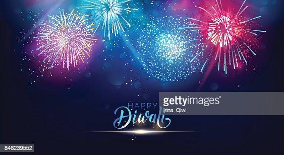 Diwali festival lights poster. : stock vector
