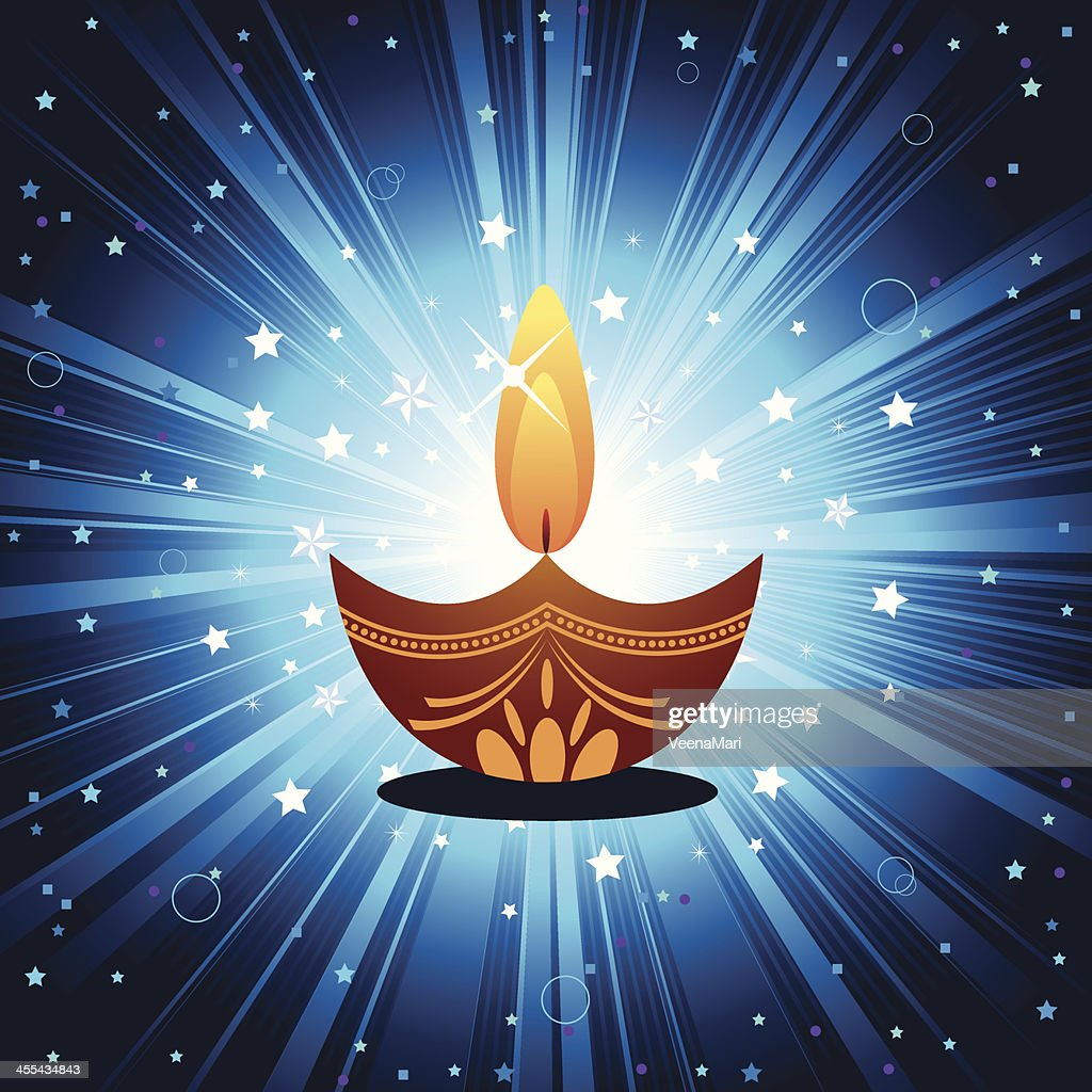 Diwali Lamp : Vector Art