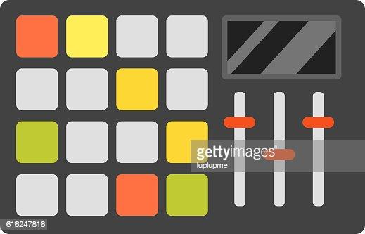 Dj music equipment icon : Arte vectorial