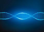 dna vector blue line Blue background