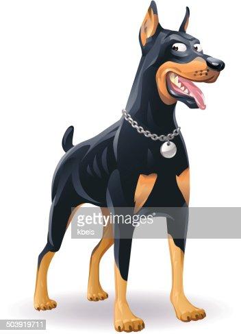 、ドイツの羊飼いでリードRFドーベルマンピンシャーRF犬のシルエットRFドイツ羊飼いRF大型犬の