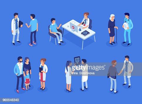 Médecins et patients : clipart vectoriel