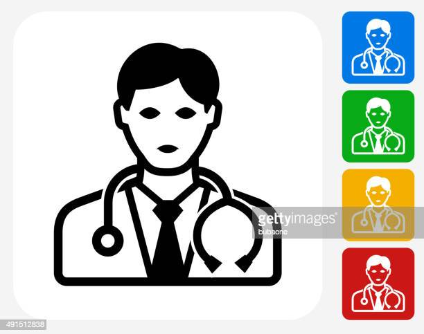 Doctor Icon Flat Graphic Design