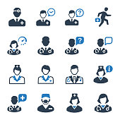 Beautiful, Meticulously Designed Doctor Icon Set - Blue Version