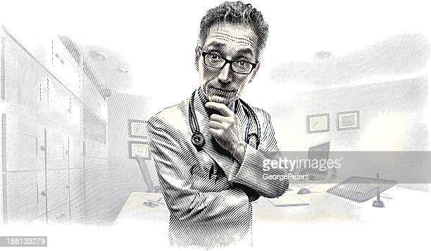 sjuksköterska tecknat