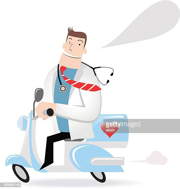 Doctor Riding A Motorcycle