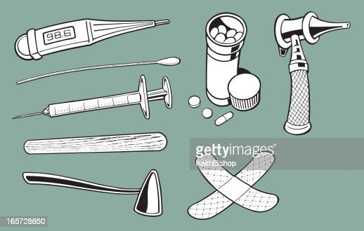 Doctors Medical Equipment And Tools Vector Art | Getty Images