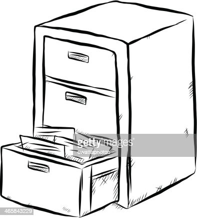 Document Cabinet Cartoon Vector Art | Thinkstock