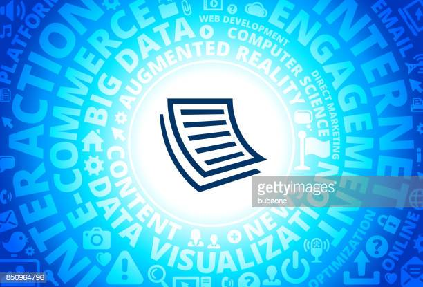 Documents Icon on Internet Modern Technology Words Background