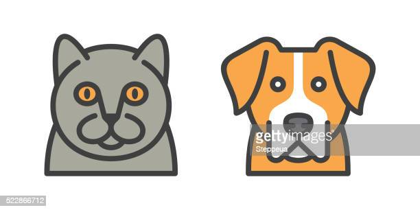 dog and cat icons