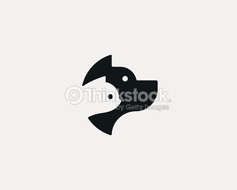 hund und katze negative raumlogodesign zoohandlunglogo haustier vektor icon symbol vektorgrafik. Black Bedroom Furniture Sets. Home Design Ideas
