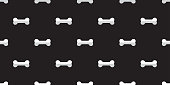 dog bone seamless pattern bone vector french bulldog puppy Halloween background repeat wallpaper isolated