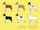 Dog Coloring Variations EPS10 File Format