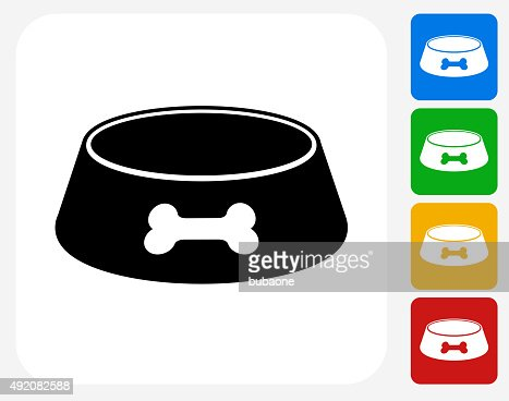dog bowl icon flat graphic design vector art getty images