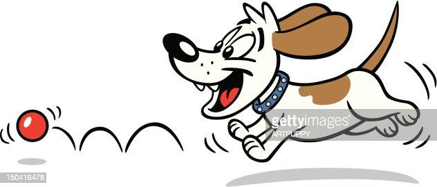 犬の追跡ボール : ベクトルアート