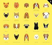 20 Dog Faces EPS10 File Format
