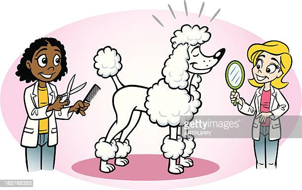 Mobile Dog Grooming Cartoon
