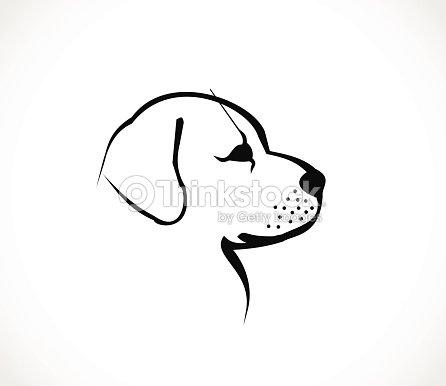 Hund kopf profil symbolvektor vektorgrafik thinkstock for Cane disegno facile