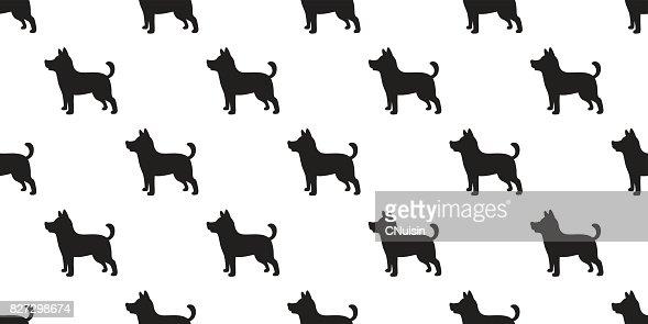 Dog Icon Puppy Cartoon Dog Breed Vector Seamless Pattern Wallpaper