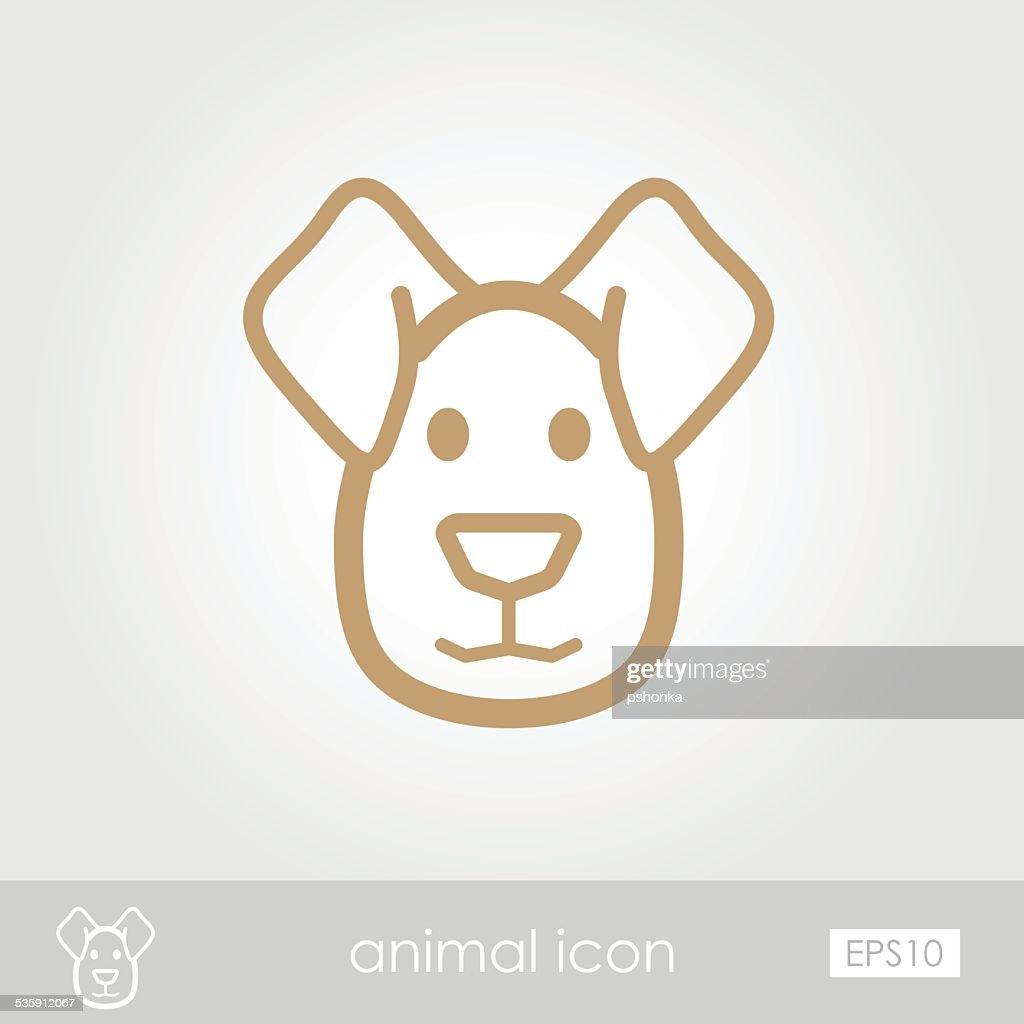 Ícone de Cão : Arte vetorial