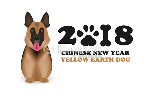 Dog Is Symbol Chinese Zodiac Of New 2018 Year Chinese Calendar For
