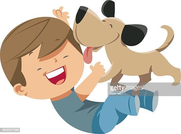 Dog loves the Boy