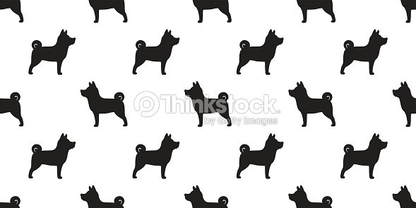 Dog Shiba Inu Vector Breed Seamless Pattern Wallpaper Background Art