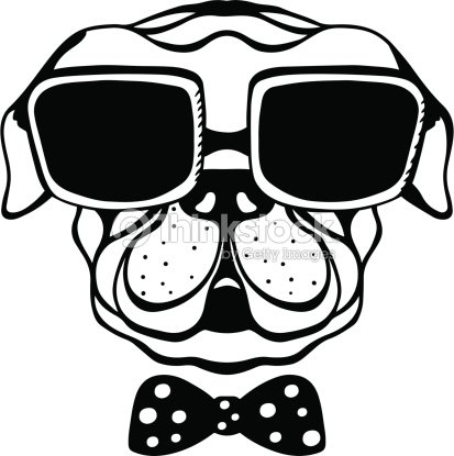 Dog with bow tie and glasses vector art thinkstock dog with bow tie and glasses vector art voltagebd Choice Image