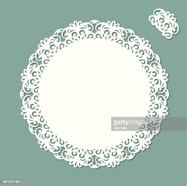 Doily with copy space