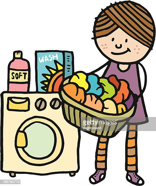 Laundry Basket Stock Illustrations And Cartoons Getty Images