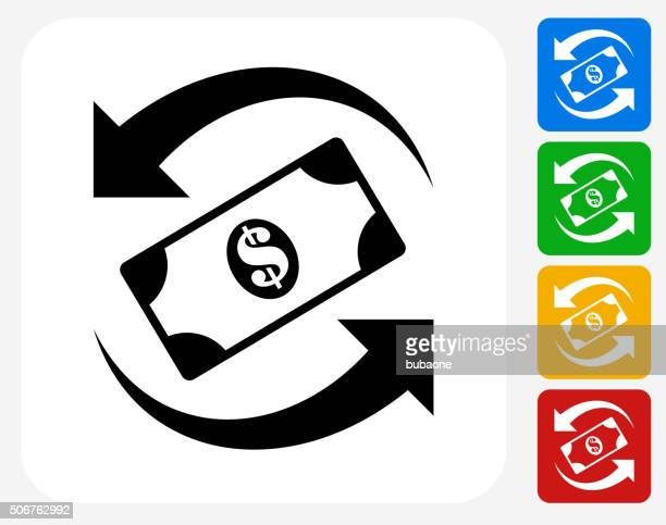 Dollar Exchange Icon Flat Graphic Design