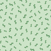Dollar seamless pattern background. Vector illustration