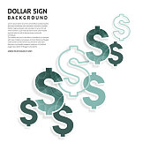 Dollar signs design. American currency signs on white background.