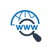 icon, domain, search, optimization, engine, sem, seo, web address, arrow, browser, http, internet, link, market, marketing, sign, symbol, vector