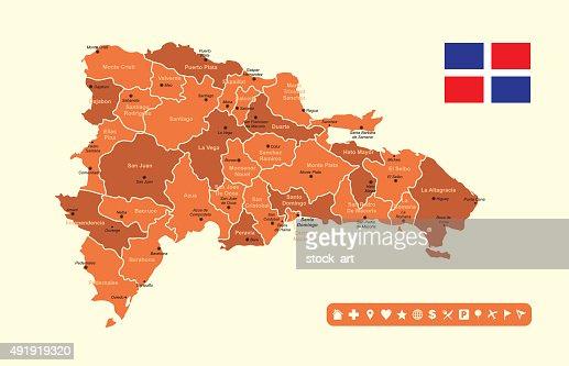 Dominican Republic Infographic Map Vector Art Getty Images - Dominican republic map vector