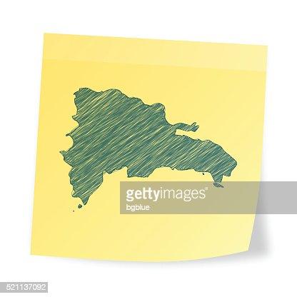 Dominican Republic Map Blue Dot Pattern Vector Art Getty Images - Dominican republic map vector