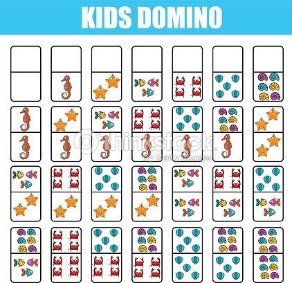 Domino Para Niños Juego Educativo De Los Niños Actividad Para ...