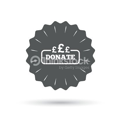 Donate Sign Icon Pounds Gbp Symbol Vector Art Thinkstock