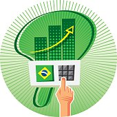 Elections in Brazil are made with an electronic voting machine. Don´t waste your vote.