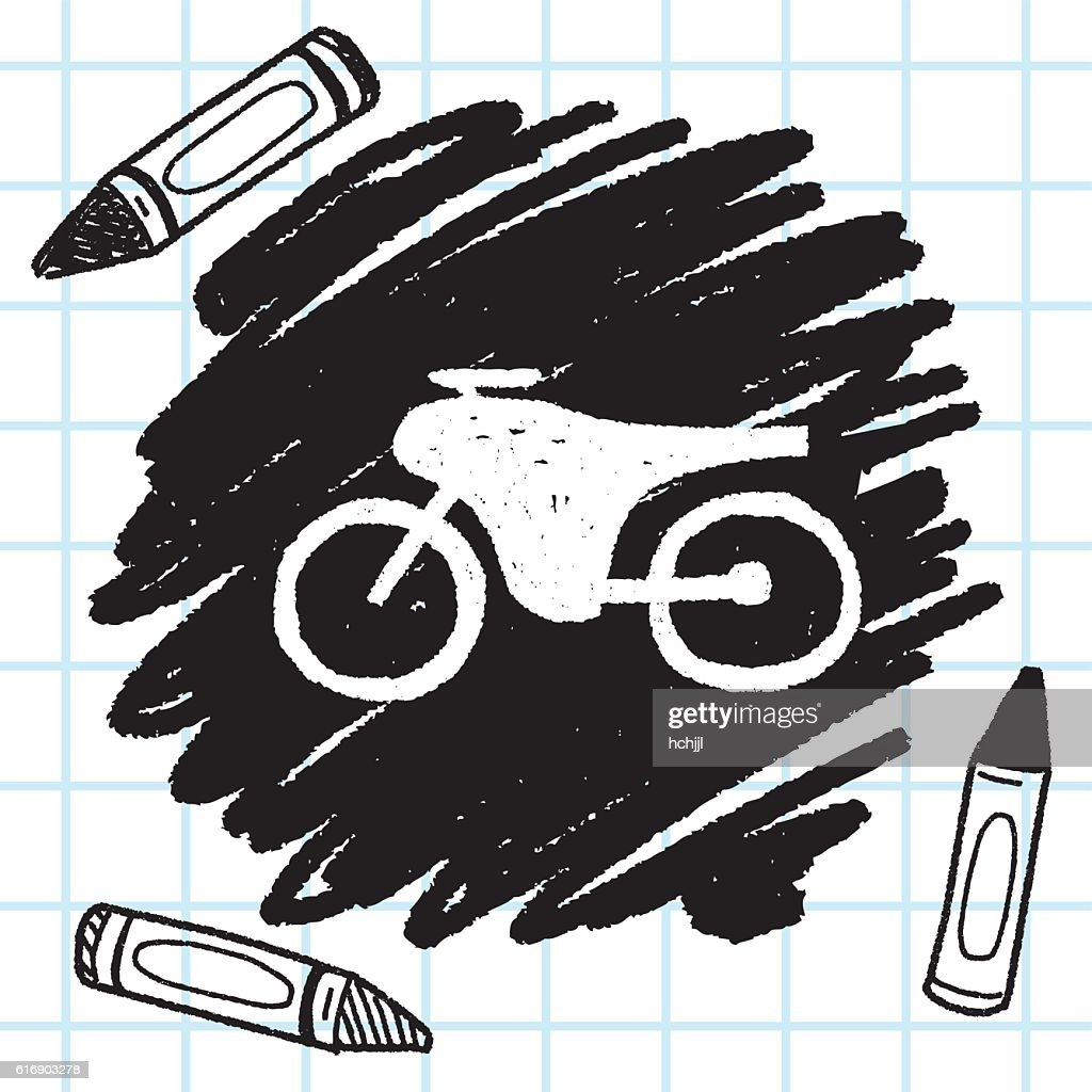 doodle bicycle : Vector Art